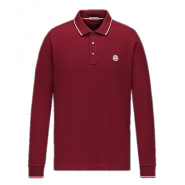 Polo MONCLER manches longues (rouge)