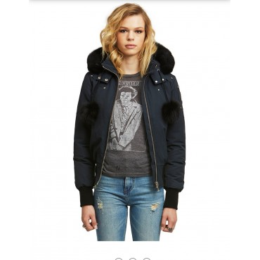 LADIES BOMBER NAVY
