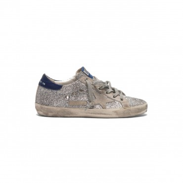SUPERSTAR SILVER GLITTER BLUE-