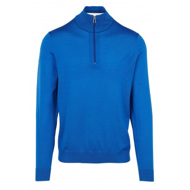 MENS PULLOVER ZIP NECK INDIGO