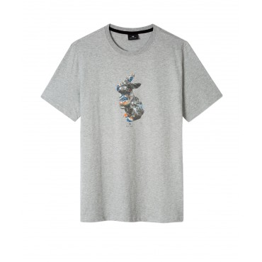 MENS SLIM FIT TSHIRT RABBIT WH