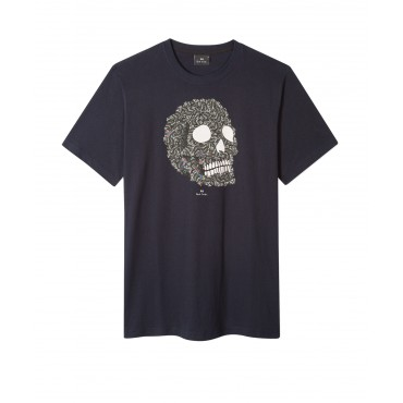 MENS SLIM FIT TSHIRT SKULL BLA