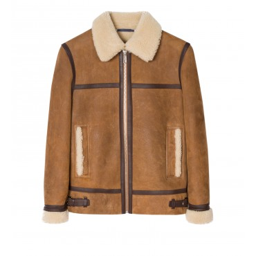 MENS JACKET SHEEPSKIN CHOCO