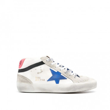 Mid Star Leather Wave Suede Star Denim Tongue
