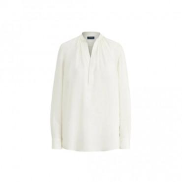 blouse blanche ralph lauren