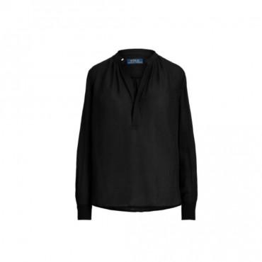blouse noire ralph lauren
